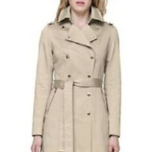 New Soia &Kyo Oatmeal trench coat rain coat LARGE